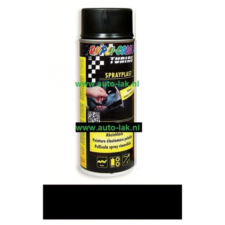 Dupli Color Sprayplast Zwart Glans